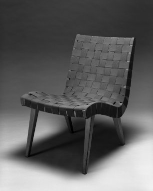 Jens Risom (American, born Denmark 1916). Lounge Chair, Model 654W, Designed 1941; Manufactured ca. 1946. Birch, cotton webbing, 29 3/4 x 19 7/8 x 28 in.  (75.6 x 50.5 x 71.1 cm). Brooklyn Museum, Gift of the artist, 58.121. Creative Commons-BY