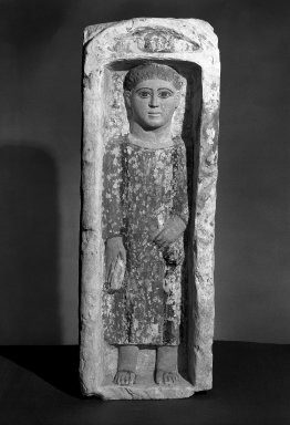 Brooklyn Museum: Funerary Stela with Boy Standing in a Niche