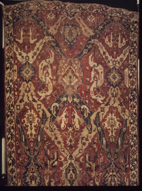 Dragon Carpet, late 17th century. Wool, 95 x 220 in. (241.3 x 558.8 cm). Brooklyn Museum, Gift of Mrs. J. Fuller Feder, 58.130. Creative Commons-BY