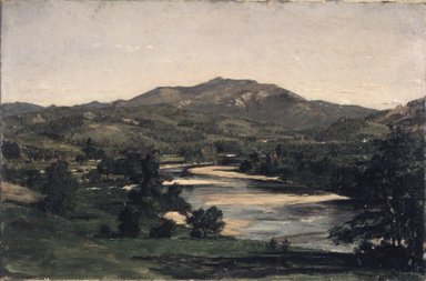 Winckworth Allan Gay (American, 1821-1910). Study for Welch Mountain from West Compton, New Hampshire, 1856. Oil on paperboard, 8 1/8 x 12 3/16 in. (20.6 x 31 cm). Brooklyn Museum, Dick S. Ramsay Fund, 58.156