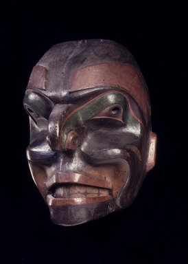 Possibly Haida (Native American). Talking Man Mask, late 19th century. Wood, pigment, 11 13/16 x 9 1/2 in. (30 x 24.1 cm). Brooklyn Museum, Gift of M. C. Eaton, 58.181.4. Creative Commons-BY