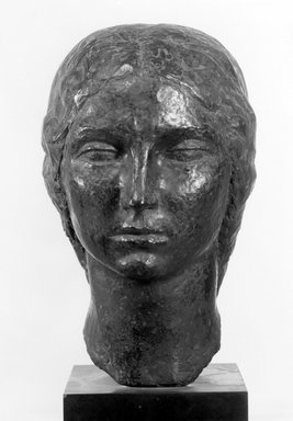 Oscar Miestchaninoff (American, born Russia, 1886-1956). Head of a Young Bulgarian, 1920. Bronze with stone base, 19 3/8 x 7 1/2 x 9 3/4 in. (49.2 x 19.1 x 24.8 cm). Brooklyn Museum, Gift of Mrs. Oscar Miestchaninoff, 58.183. Creative Commons-BY