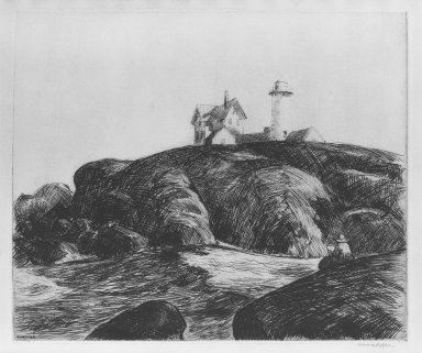 Edward Hopper (American, 1882-1967). Maine Coast, 1923. Etching Brooklyn Museum, Dick S. Ramsay Fund, 58.189. © Heirs of Josephine N. Hopper, licensed by the Whitney Museum of American Art