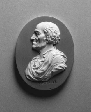 Wedgwood and Company (1860-1965). Portrait Medallion, ca. 1790. Jasperware, 3 x 2 1/2 in. (7.6 x 6.4 cm). Brooklyn Museum, Gift of Emily Winthrop Miles, 58.194.19. Creative Commons-BY
