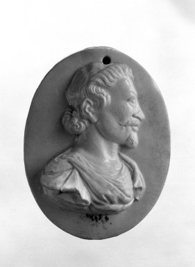 Wedgwood and Company (1860-1965). Portrait Medallion, ca. 1790. Bisque, 3 3/4 x 2 3/4 in. (9.5 x 7 cm). Brooklyn Museum, Gift of Emily Winthrop Miles, 58.194.22. Creative Commons-BY