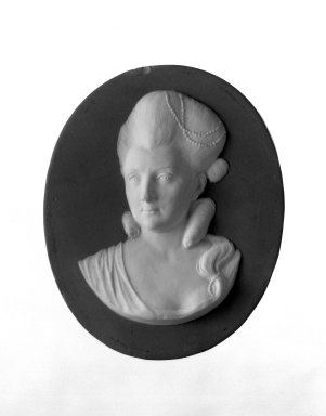 Wedgwood & Bentley (1759-present). Portrait Medallion, 1775-1780. Jasperware, 4 1/2 x 3 7/8 in. (11.4 x 9.8 cm). Brooklyn Museum, Gift of Emily Winthrop Miles, 58.194.25. Creative Commons-BY