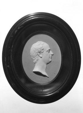 Josiah Wedgwood & Sons Ltd. (founded 1759). Portrait Medallion, ca. 1782. Jasperware, hardwood, 6 1/8 x 5 3/16 in. (15.6 x 13.2 cm) Frame. Brooklyn Museum, Gift of Emily Winthrop Miles, 58.194.31. Creative Commons-BY