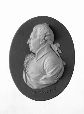 Wedgwood (1759-present). Portrait Medallion, ca. 1785. Jasperware, 5 x 4 3/4 in. (12.7 x 12.1 cm) Frame. Brooklyn Museum, Gift of Emily Winthrop Miles, 58.194.34. Creative Commons-BY