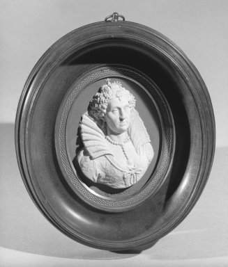 Wedgwood & Bentley (1759-present). Portrait Medallion, ca. 1775. Jasperware, walnut, bronze Brooklyn Museum, Gift of Emily Winthrop Miles, 58.194.37. Creative Commons-BY