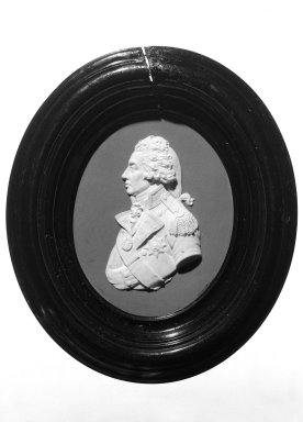 Wedgwood (1759-present). Portrait Medallion, ca. 1800. Jasperware Brooklyn Museum, Gift of Emily Winthrop Miles, 58.194.45. Creative Commons-BY