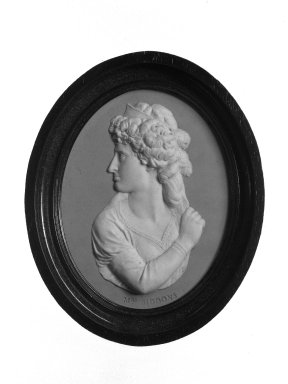 Wedgwood (founded 1759). Portrait Medallion, ca. 1785. Jasperware Brooklyn Museum, Gift of Emily Winthrop Miles, 58.194.50. Creative Commons-BY