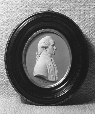 Wedgwood (1759-present). Portrait Medallion, ca. 1790. Jasperware, brass Brooklyn Museum, Gift of Emily Winthrop Miles, 58.194.55. Creative Commons-BY