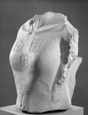 Torso of Akhenaten, ca. 1352-1336 B.C.E. Limestone, 21 x 13 x 16 in. (53.3 x 33 x 40.6 cm). Brooklyn Museum, Charles Edwin Wilbour Fund, 58.2. Creative Commons-BY