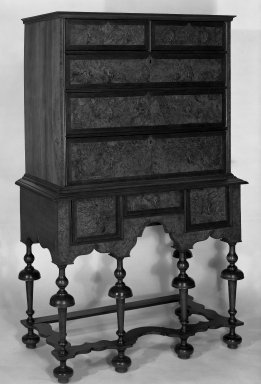 American. High Chest in Two Parts, 1715-1740. Walnut veneer Brooklyn Museum, Dick S. Ramsay Fund, 58.35. Creative Commons-BY