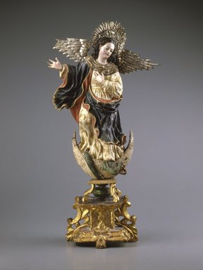 Virgin of Quito, second half of the 18th century. Polychromed wood and silver, 25 1/2 x 13 x 6 3/4in. (64.8 x 33 x 17.1cm). Brooklyn Museum, Gift of Mrs. Giles Whiting, 58.37. Creative Commons-BY