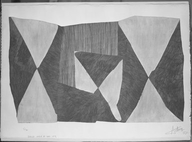 Henri-Georges Adam (French, 1904-1967). Sable Eau, No. 9., 1957. Etching on heavy wove paper, Plate: 38 3/16 x 23 5/8 in. (97 x 60 cm). Brooklyn Museum, Museum Collection Fund, 58.62.2. © Estate of Henri-Georges Adam