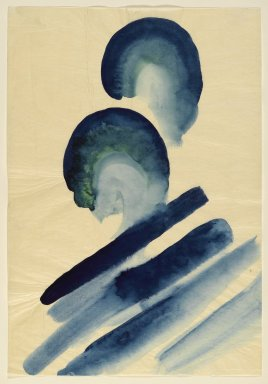 Georgia O'Keeffe (American, 1887-1986). Blue #2, 1916. Watercolor on paper, 15 7/8 x 10 15/16 in.  (40.3 x 27.8 cm). Brooklyn Museum, Bequest of Mary T. Cockcroft, by exchange, 58.74