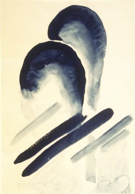 Georgia O'Keeffe (American, 1887-1986). Blue #3, 1916. Watercolor on paper, 15 7/8 x 10 15/16 in.  (40.3 x 27.8 cm). Brooklyn Museum, Dick S. Ramsay Fund, 58.75