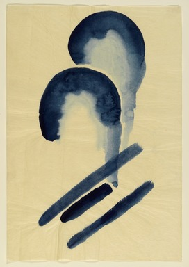 Georgia O'Keeffe (American, 1887-1986). Blue #4, 1916. Watercolor on paper, 15 15/16 x 10 15/16 in.  (40.5 x 27.8 cm). Brooklyn Museum, Dick S. Ramsay Fund, 58.76