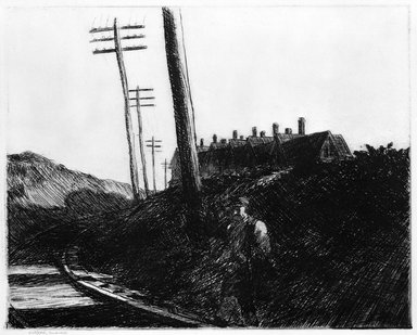 Edward Hopper (American, 1882-1967). The Railroad, 1922. Etching Brooklyn Museum, Dick S. Ramsay Fund, 58.9.4