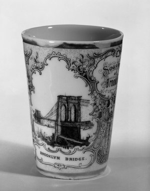 Victoria Porcelain Factory. Tumbler, ca. 1900. Porcelain Brooklyn Museum, Gift of Arthur Fischer, 58.99. Creative Commons-BY