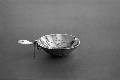 American. Tea Strainer, ca. 1768. Silver Brooklyn Museum, Gift of Mrs. Leo R. Healy in memory of Leo R. Healy, by exchange, 59.135. Creative Commons-BY