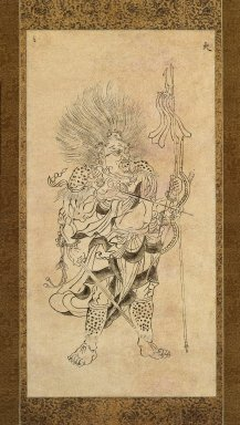 Iconographic Drawing of Kayosei, One of the Seven Constellations, late 11th-early 12th century. Hanging scroll, ink on paper, Image: 21 5/8 x 11 1/4 in. (55 x 28.5 cm). Brooklyn Museum, Frank L. Babbott Fund, Carll H. de Silver Fund, and Caroline A.L. Pratt Fund, 59.177
