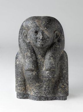 Head and Torso of a Noblewoman, ca. 1844-1837 B.C.E. Diorite, 9 x 6 1/4 x 4 1/2 in. (22.9 x 15.9 x 11.4 cm). Brooklyn Museum, Charles Edwin Wilbour Fund, 59.1. Creative Commons-BY