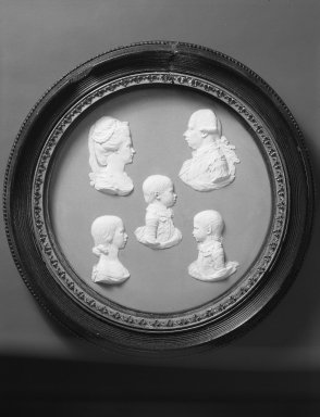 Josiah Wedgwood & Sons Ltd. (founded 1759). Circular Portrait Plaque, ca.1787. White on blue jasperware, 8 3/8 in. (21.3 cm). Brooklyn Museum, Gift of Emily Winthrop Miles, 59.202.15. Creative Commons-BY