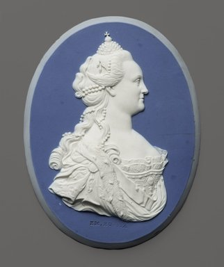Brooklyn Museum: Portrait Medallion of Empress Catherine II of Russia