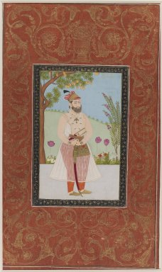 Indian. Iraj Khan, 1875-1900. Opaque watercolor and gold on paper, sheet: 19 5/8 x 11 13/16 in.  (49.8 x 30.0 cm). Brooklyn Museum, Gift of James S. Hays, 59.205.13