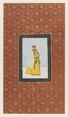 Indian. Qamar al-Din Khan, 1875-1900. Opaque watercolor and gold on paper, sheet: 19 5/8 x 11 13/16 in.  (49.8 x 30.0 cm). Brooklyn Museum, Gift of James S. Hays, 59.205.14