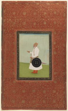 Indian. Ruh Allah Khan, 1875-1900. Opaque watercolor and gold on paper, sheet: 19 5/8 x 11 7/8 in.  (49.8 x 30.2 cm). Brooklyn Museum, Gift of James S. Hays, 59.205.1