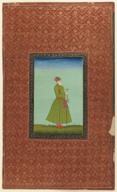 Indian. Islam Khan Rumi, 1875-1900. Opaque watercolor and gold on paper, sheet: 19 5/8 x 11 7/8 in.  (49.8 x 30.2 cm). Brooklyn Museum, Gift of James S. Hays, 59.205.2