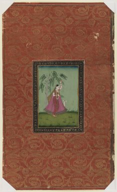 Indian. Girl with a Deer (Todi Ragini ?), 1875-1900. Opaque watercolor and gold on paper, sheet: 19 11/16 x 11 3/4 in.  (50.0 x 29.8 cm). Brooklyn Museum, Gift of James S. Hays, 59.205.4