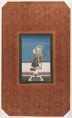 Indian. Shah Jahan with a Falcon, 1875-1900. Opaque watercolor and gold on paper, sheet: 19 3/4 x 11 7/8 in.  (50.2 x 30.2 cm). Brooklyn Museum, Gift of James S. Hays, 59.205.7