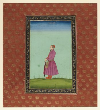 Indian. Shahzadeh Wala Jah, 1875-1900. Opaque watercolor and gold on paper, sheet: 19 5/8 x 11 13/16 in.  (49.8 x 30.0 cm). Brooklyn Museum, Gift of James S. Hays, 59.205.8