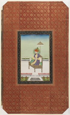 Indian. Umar Shaykh Mirza, 1875-1900. Opaque watercolor and gold on paper, sheet: 19 5/8 x 11 13/16 in.  (49.8 x 30.0 cm). Brooklyn Museum, Gift of James S. Hays, 59.205.9