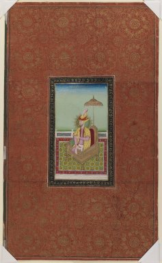 Indian. Sultan Muhammad, son of Miran Shah, 1875-1900. Opaque watercolor and gold on paper, sheet: 19 5/8 x 11 3/4 in.  (49.8 x 29.8 cm). Brooklyn Museum, Gift of Philip P. Weisberg, 59.206.10