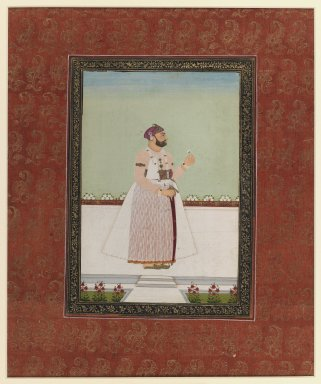 Indian. Munir al-Mulk Bahadur, 1875-1900. Opaque watercolor and gold on paper, sheet: 19 11/16 x 11 13/16 in.  (50.0 x 30.0 cm). Brooklyn Museum, Gift of Philip P. Weisberg, 59.206.1