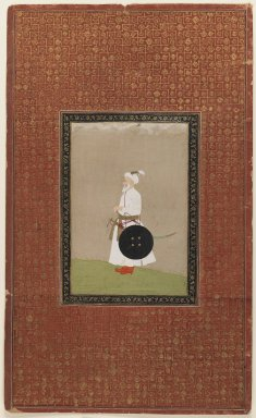 Indian. Muhammad Amin Khan Turani, 1875-1900. Opaque watercolor and gold on paper, sheet: 19 11/16 x 11 13/16 in.  (50.0 x 30.0 cm). Brooklyn Museum, Gift of Philip P. Weisberg, 59.206.3