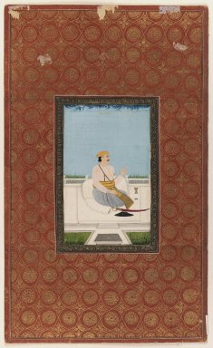 Indian. Niaz Bahadur Khan, 1875-1900. Opaque watercolor and gold on paper, sheet: 19 3/4 x 11 7/8 in.  (50.2 x 30.2 cm). Brooklyn Museum, Gift of Philip P. Weisberg, 59.206.4