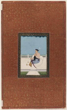 Indian. Sardar al-Daula (?), 1875-1900. Opaque watercolor and gold on paper, sheet: 19 3/4 x 11 7/8 in.  (50.2 x 30.2 cm). Brooklyn Museum, Gift of Philip P. Weisberg, 59.206.5