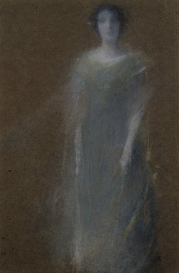 Thomas Wilmer Dewing (American, 1851-1938). Unknown Woman, ca. 1890. Pastel on brown wove paper, mounted overall to pulpboard, 10 7/16 x 7 1/16 in. (26.5 x 17.9 cm). Brooklyn Museum, Dick S. Ramsay Fund, 59.208