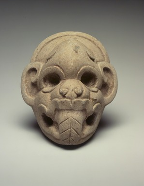 Classic Veracruz. Ceremonial Hacha in the Form of a Monkey's Head, 700-900. Stone, 7 1/4 x 6 1/2 x 4 in. (18.4 x 16.5 x 10.2 cm). Brooklyn Museum, By exchange, 59.237.2. Creative Commons-BY