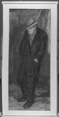Arbit Blatas (American, born Lithuania, 1908-1999). Portrait of Soutine, mid-20th century. Oil on canvas, 58 1/8 x 24 3/16 in. (147.6 x 61.4 cm). Brooklyn Museum, Gift of Mr. and Mrs. Erwin D. Swann, 59.61. © Estate of Arbit Blatas