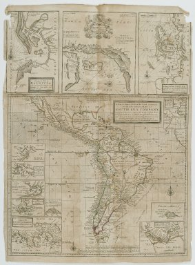 Herman D. Moll (German, 1654-1732). A New & Exact Map of the Coast Countries and Islands Within Ye Limits of Ye South Sea Company, n.d. Engraving, Sheet: 19 7/8 x 27 3/8 in. (50.5 x 69.5 cm). Brooklyn Museum, Gift of Mrs. M.D.C. Crawford and Adelaide Goan, 60.108.82e