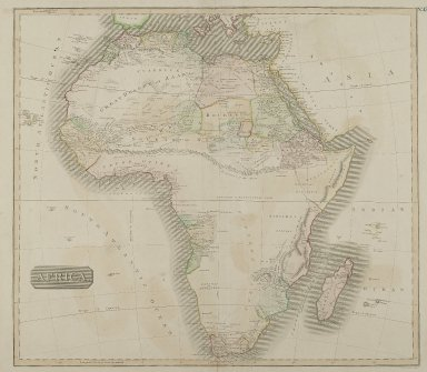 J. & G. Menzies. Africa, n.d. Engraving, Sheet: 28 1/8 x 21 1/4 in. (71.5 x 54 cm). Brooklyn Museum, Gift of Mrs. M.D.C. Crawford and Adelaide Goan, 60.108.82m