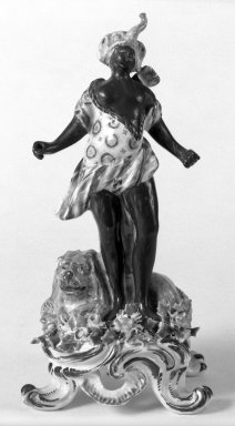 Bow Porcelain Factory. Figure of Female Blackamoor. Porcelain Brooklyn Museum, Bequest of James Hazen Hyde, 60.12.32. Creative Commons-BY