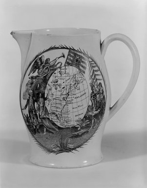Unknown. Pitcher, ca. 1790. Glazed earthenware, Height: 5 5/8 in. (14.3 cm). Brooklyn Museum, Bequest of James Hazen Hyde, 60.12.70. Creative Commons-BY